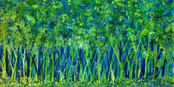 bob ross blue green forest 85991 painting