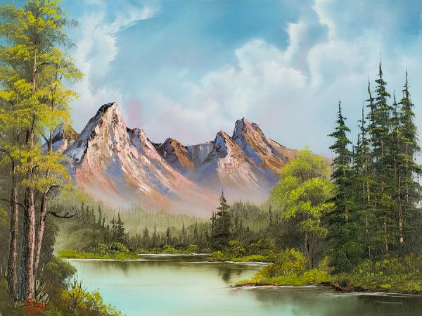 bob ross crimson mountains 86005 painting