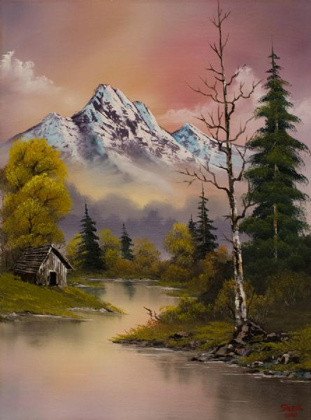 bob ross evenings delight 86016 painting