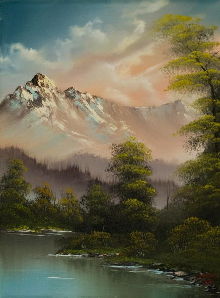 bob ross evenings glow 86017 painting