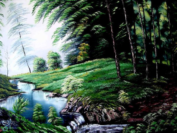 bob rossgreen forest 85941 Painting-85941