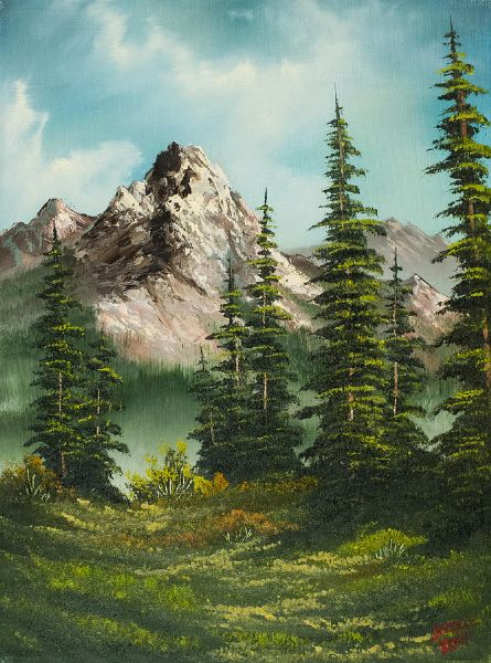 bob ross high meadow painting