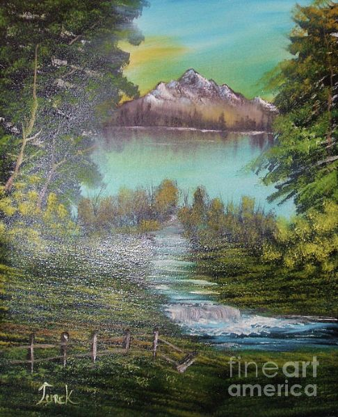 bob ross impressions in oil 86048 painting