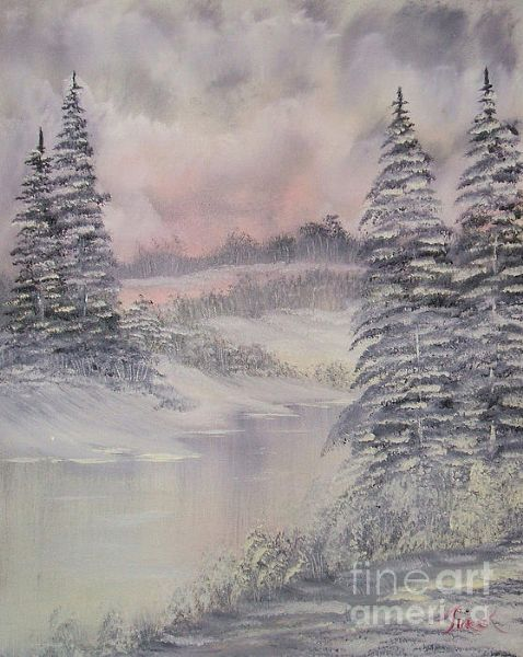 bob ross impressions in oil paintings