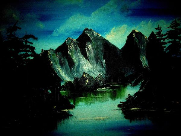 bob ross landscape 85942 painting