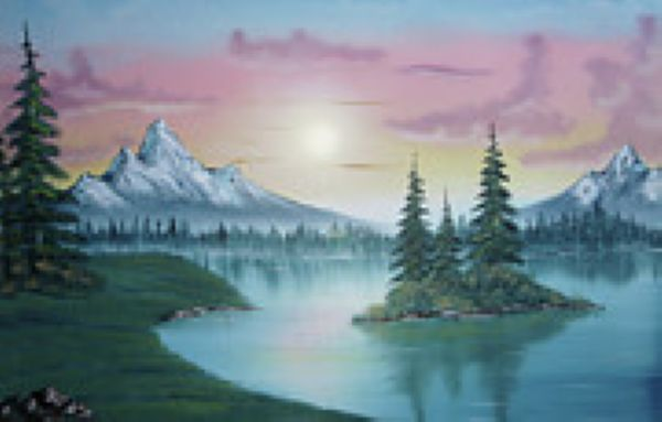 bob ross mountain lake 85944 painting