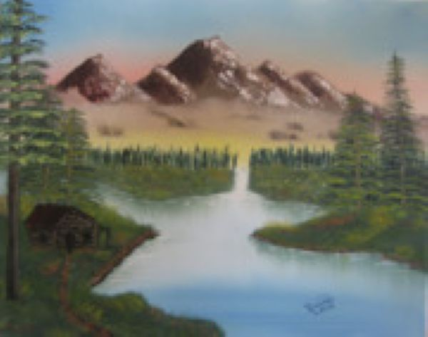 bob ross mountain retreat 86091 painting