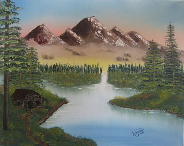 bob ross mountain retreat paintings