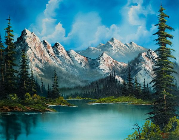 bob ross natures grandeur 86102 painting