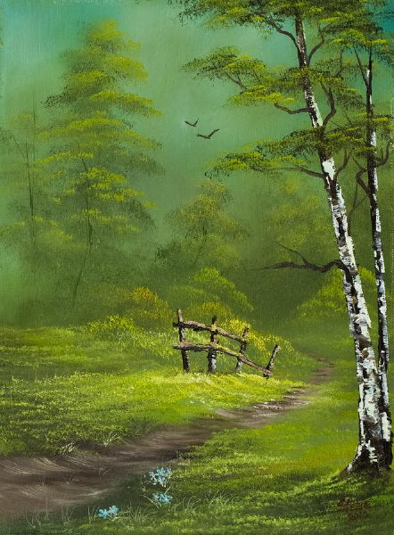 bob ross quiet trail 86120 painting