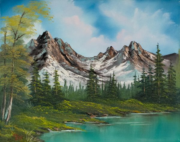 bob ross sawtooth saddle paintings