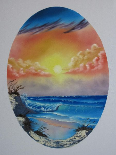 bob ross seascape 86132 painting