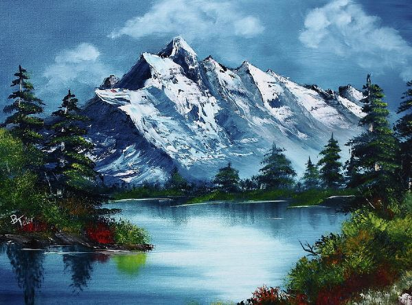 bob ross take a breath barbara teller 85954 painting
