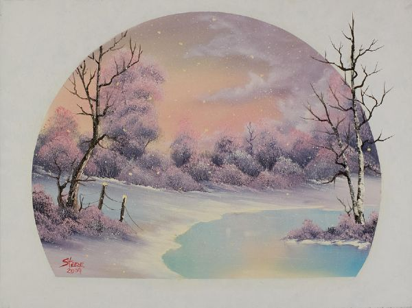 bob ross winter lace 86161 painting