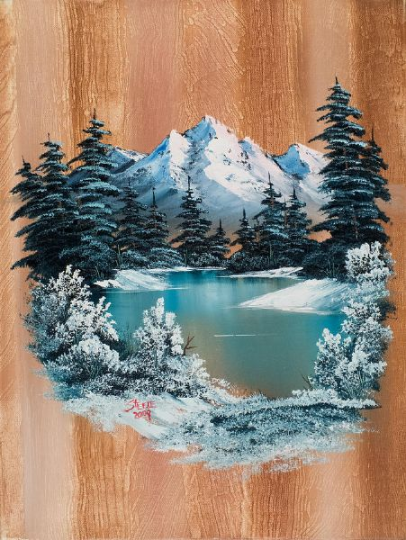 bob ross winter paradise paintings