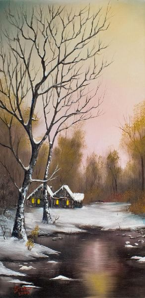 bob ross winter solace 86168 painting