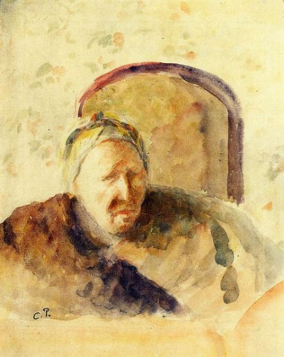 camille pissarro portrait of the artist s mother painting