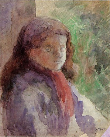 camille pissarro portrait of the artist s son ludovic painting