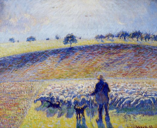camille pissarro shepherd and sheep paintings