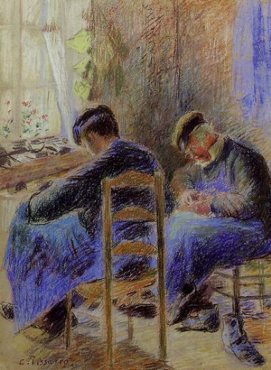 camille pissarro shoemakers paintings