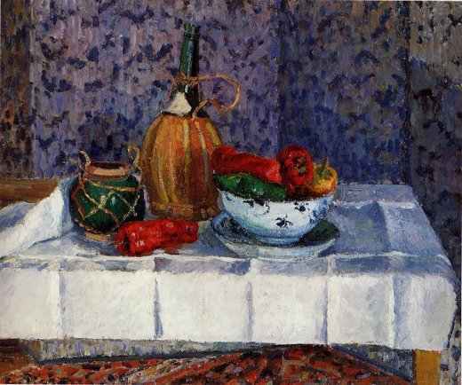 camille pissarro still life with spanish peppers posters