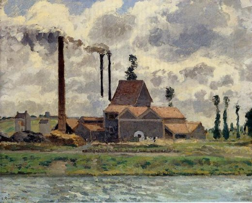 camille pissarro the factory posters
