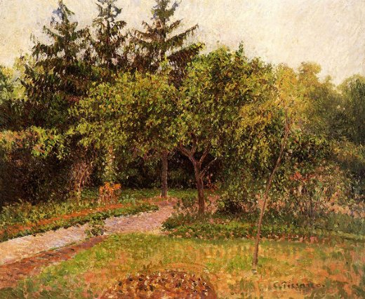 camille pissarro the garden at eragny painting