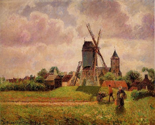 camille pissarro the knocke windmill belgium paintings