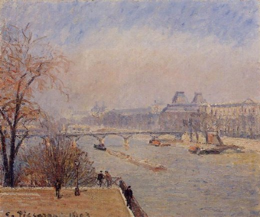 camille pissarro the louvre painting