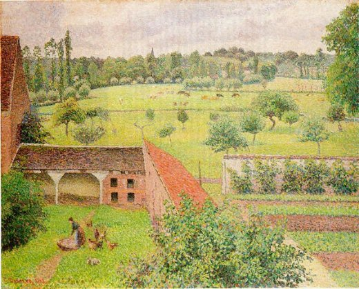 camille pissarro view from my window eragny painting