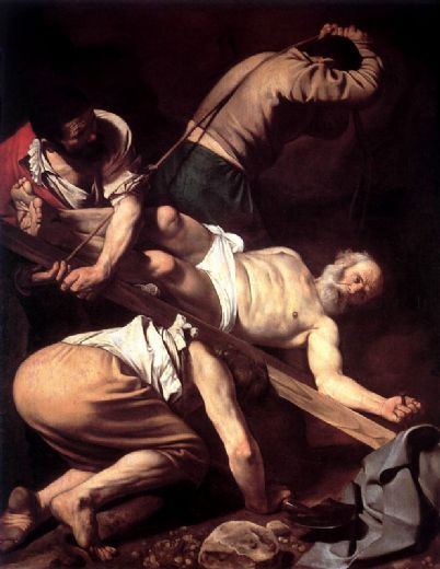caravaggio the crucifixion of saint peter paintings