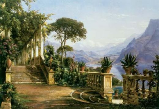 carl fredrik aagard lodge on lake como paintings