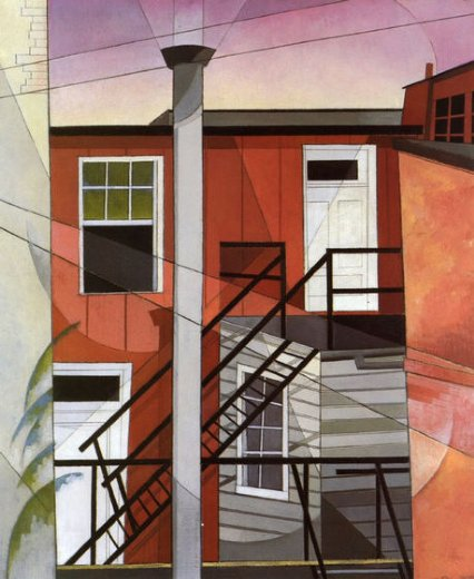 charles demuth modern conveniences painting