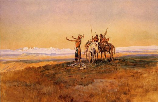 charles marion russell invocation to the sun painting