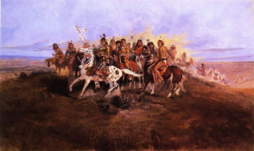 charles marion russell the war party painting