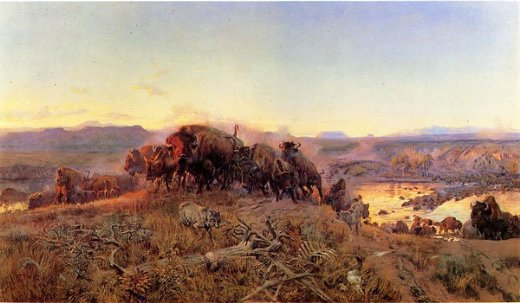 charles marion russell when the land belonged to god painting