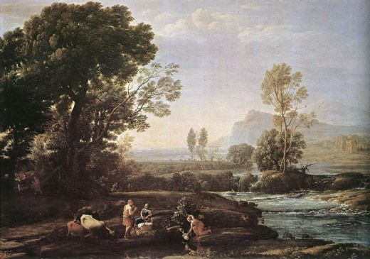 claude lorrain landscape with rest in flight to egypt paintings