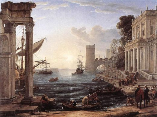 claude lorrain seaport with the embarkation of the queen of sheba paintings