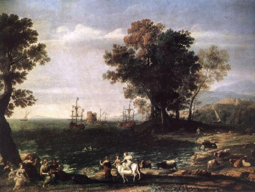 claude lorrain the rape of europa painting