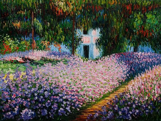 claude monet artist s garden at giverny ii paintings