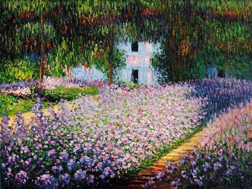 claude monet artist s garden at giverny iii painting