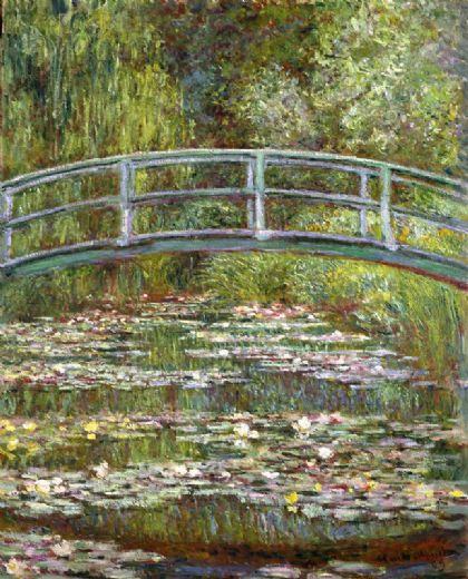 claude monet bridge over a pool of water lilies prints