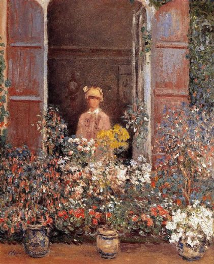claude monet camille at the window painting
