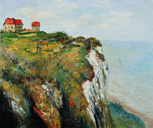 claude monet cliff at dieppe ii painting