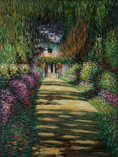 claude monet garden path at giverny ii painting