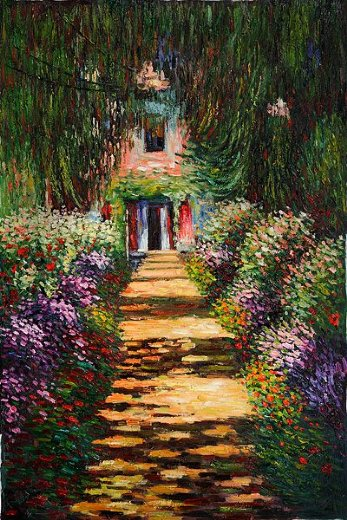 claude monet garden path at giverny iv paintings