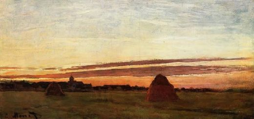 claude monet grainstacks at chailly at sunrise prints