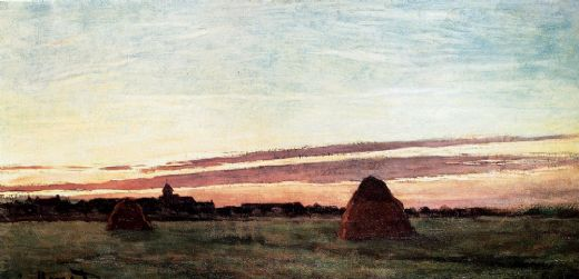claude monet haystacks at chailly paintings
