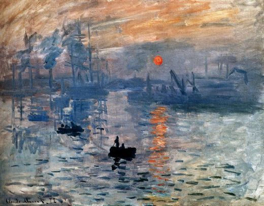 claude monet impression sunrise paintings