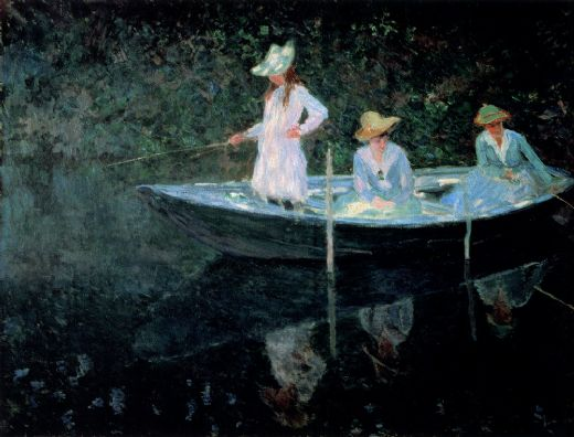 claude monet in the rowing boat paintings